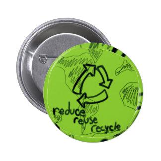 Reduzca la reutilización reciclan pin redondo 5 cm