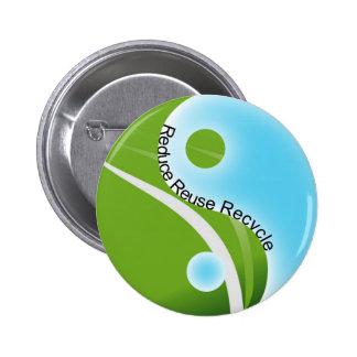 reduzca la reutilización reciclan pin redondo de 2 pulgadas