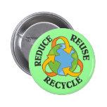 Reduzca la reutilización reciclan pins
