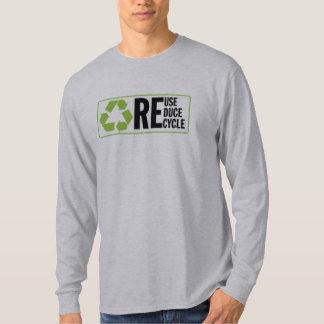 Reduzca la reutilización reciclan poleras