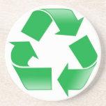 Reduzca la reutilización reciclan posavasos diseño