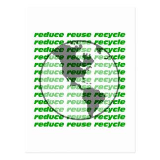 reduzca la reutilización reciclan postales