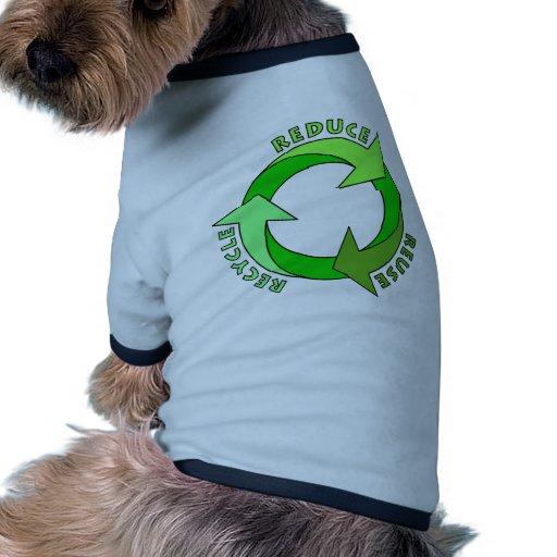 ¡Reduzca la reutilización reciclan productos! Camiseta Con Mangas Para Perro