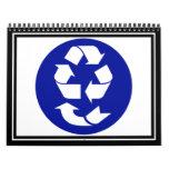 Reduzca la reutilización reciclan recuperan el calendario