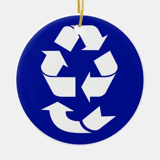 Reduzca la reutilización reciclan recuperan el adorno redondo de cerámica