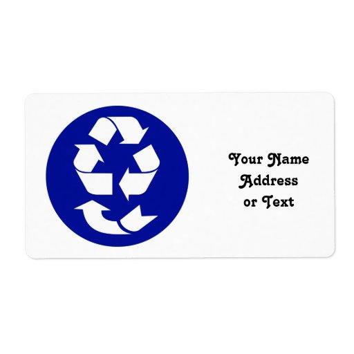 Reduzca la reutilización reciclan recuperan el etiqueta de envío