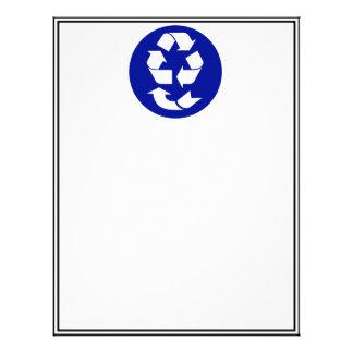 Reduzca la reutilización reciclan recuperan el membrete personalizado