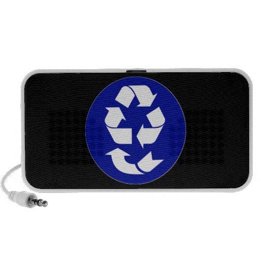 Reduzca la reutilización reciclan recuperan el mp3 altavoz