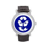 Reduzca la reutilización reciclan recuperan el reloj