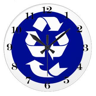 Reduzca la reutilización reciclan recuperan el reloj de pared