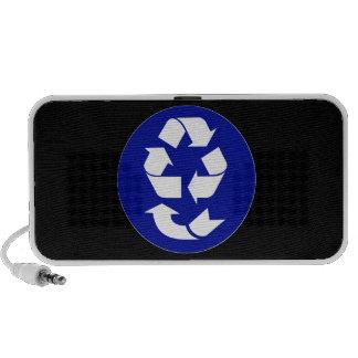 Reduzca la reutilización reciclan recuperan el sím altavoces de viaje