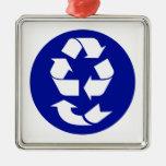 Reduzca la reutilización reciclan recuperan el sím ornamento de reyes magos
