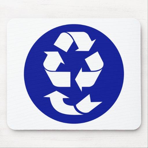 Reduzca la reutilización reciclan recuperan el alfombrilla de ratón