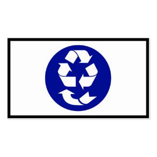 Reduzca la reutilización reciclan recuperan el tarjetas de visita
