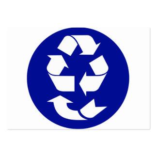 Reduzca la reutilización reciclan recuperan el tarjetas de visita grandes