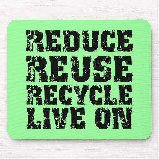 Reduzca la reutilización reciclan tapetes de ratones