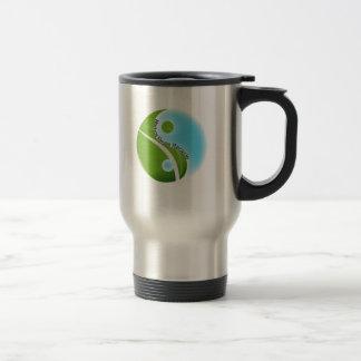 reduzca la reutilización reciclan taza de viaje