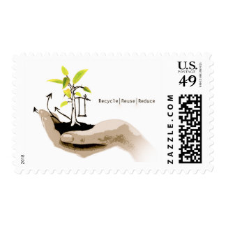 Reduzca la reutilización reciclan timbres postales