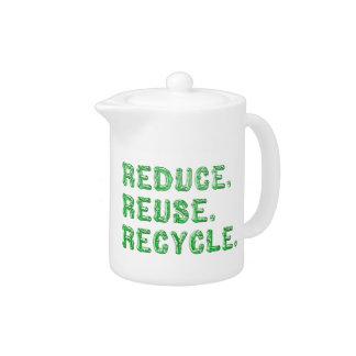 Reduzca la reutilización y recicle la tetera
