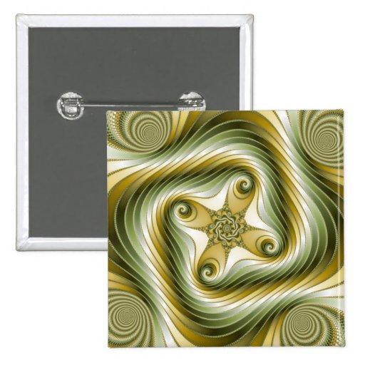 Reduzca la vuelta - arte del fractal pin
