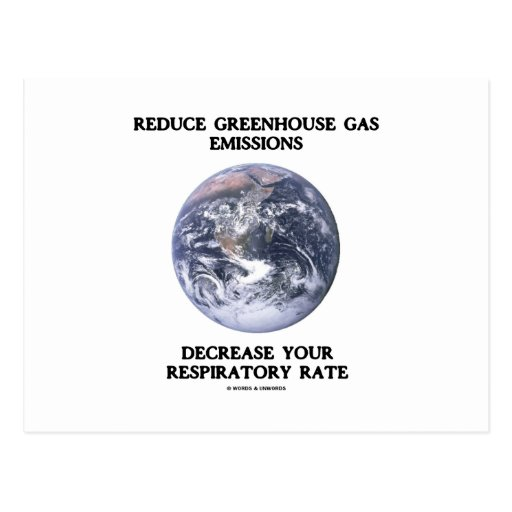 Reduzca las emisiones de gases de efecto invernade tarjeta postal