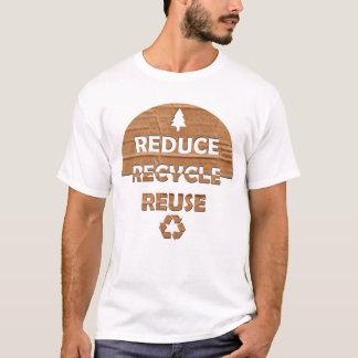 Reduzca reciclan la reutilización playera