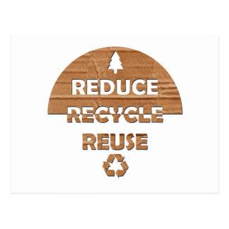 Reduzca reciclan la reutilización postal