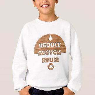 Reduzca reciclan la reutilización sudadera