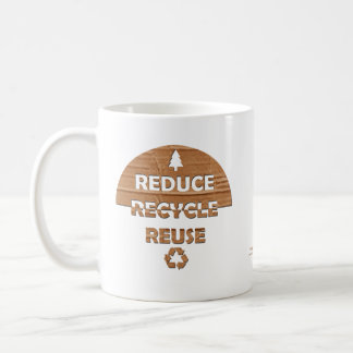 Reduzca reciclan la reutilización taza de café