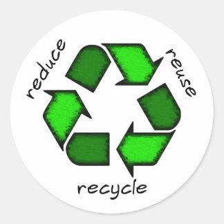 Reduzca reutilice recicle al pegatina