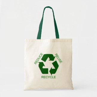 Reduzca, reutilice, recicle bolsa tela barata