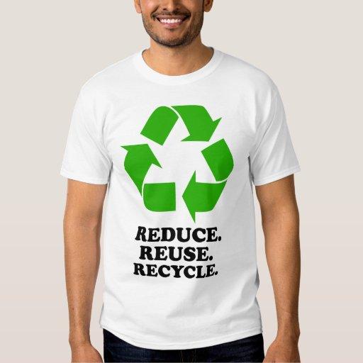 Reduzca, reutilice, recicle - la vida verde remera