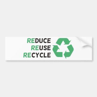 ¡Reduzca, reutilice, recicle los productos y los d Pegatina Para Auto