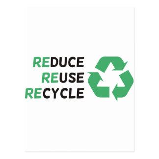 ¡Reduzca, reutilice, recicle los productos y los Postal