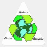 ¡Reduzca, reutilice, recicle! Calcomanías De Trianguladas