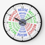 Reduzca, reutilice, recicle reloj de pared