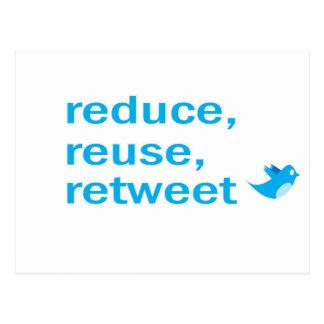 reduzca, reutilice, retweet postal