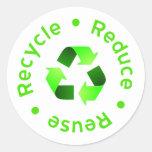 Reduzca - reutilización - reciclan al pegatina