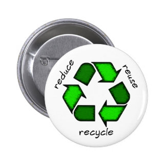 Reduzca - reutilización - reciclan el botón pin