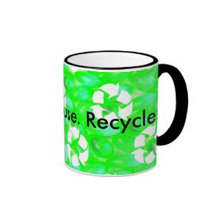 Reduzca. Reutilización. Recicle Taza De Café