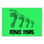 Reduzca su huella del carbono felicitaciones