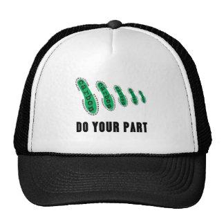 Reduzca su huella del carbono gorras de camionero