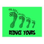 Reduzca su huella del carbono postales