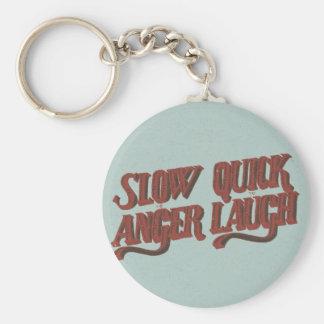 Redúzcase para enojar aprisa para reír llavero redondo tipo pin