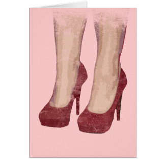 Redv Shoes Greeting Card