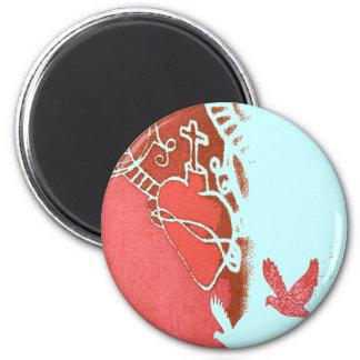 redwhite 2 inch round magnet