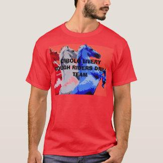redwhiteblue CIBOLO LIVERY ROUGH RIDERS T-Shirt