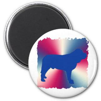 RedWhiteBlueMastiff 2 Inch Round Magnet