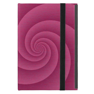 RedWine Spiral in brushed metal texture Cover For iPad Mini