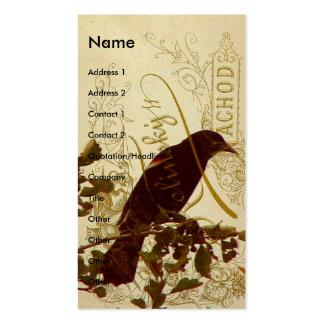 Redwing Blackbird Business Card Templates
